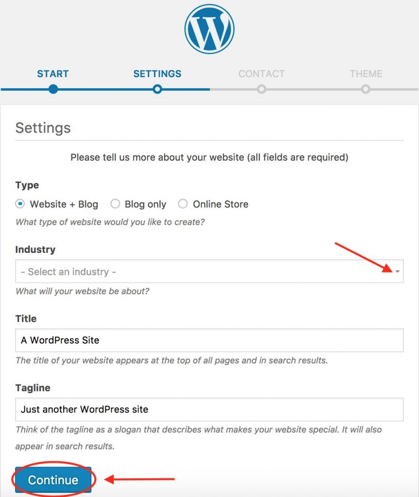 WordPress - Settings