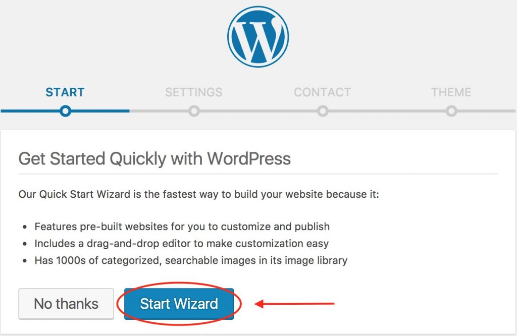 WordPress - Start Wizard